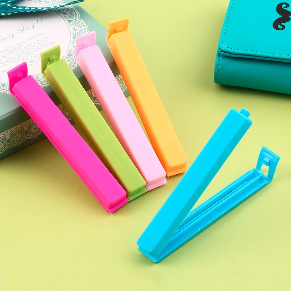 new brand 5pcs Food Snack Storage Seal Sealing Bag Clips Sealer Clamp Plastic Tool(China (Mainland))