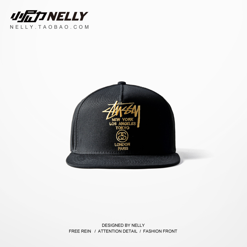 2015 hip-hop Embroidery gold fashion personality hat male spring and summer girls casual skateboard baseball cap hat(China (Mainland))