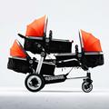 High Quality Triplets Baby Stroller Aluminum Poussette Separable Baby Stroller 3 in 1 Multifunctional Shockproof Kinderwagen