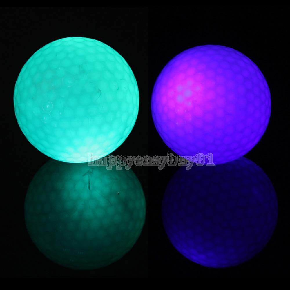 Flashing Electronic Golf Balls 2-Pack Night Golfing 1 Blue + 1 Green H1E1(China (Mainland))
