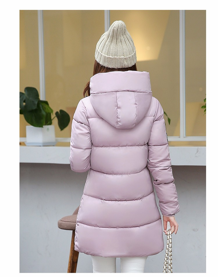 2016 Winter Autumn New Arrival Slim Long Down Cotton Coat Women Fashion Parka Warm Hooded Quilted Jacket Ladies Outerwear DY5