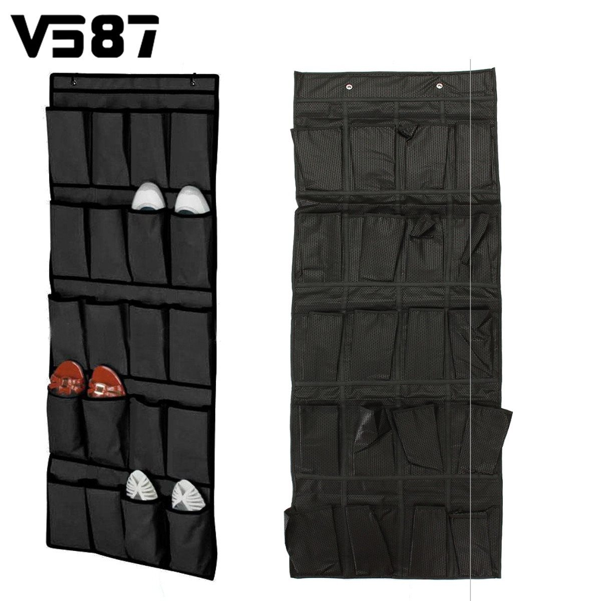 20 Pockets Over The Door Shoes Organizer Rack Sundries Hanging Storage Bag Holder Household Storage Tool Accessories Space Saver(China (Mainland))