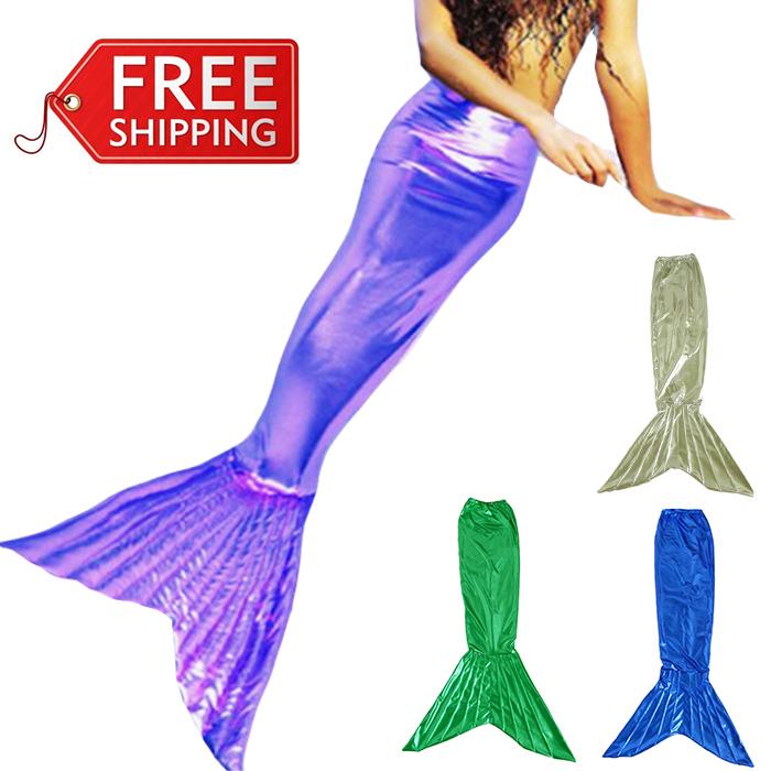 mermaid tail for kids mermaid tails for girls halloween costumes for kids children cosplay party mermaid tail costume custom(China (Mainland))