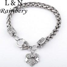 Buy Rainbery Mom Gift Charm Rhinestone Heart Crystal Bracelet Letters MOM SISTER NANA MIMI Bracelets Women Bracelet Femme for $3.29 in AliExpress store