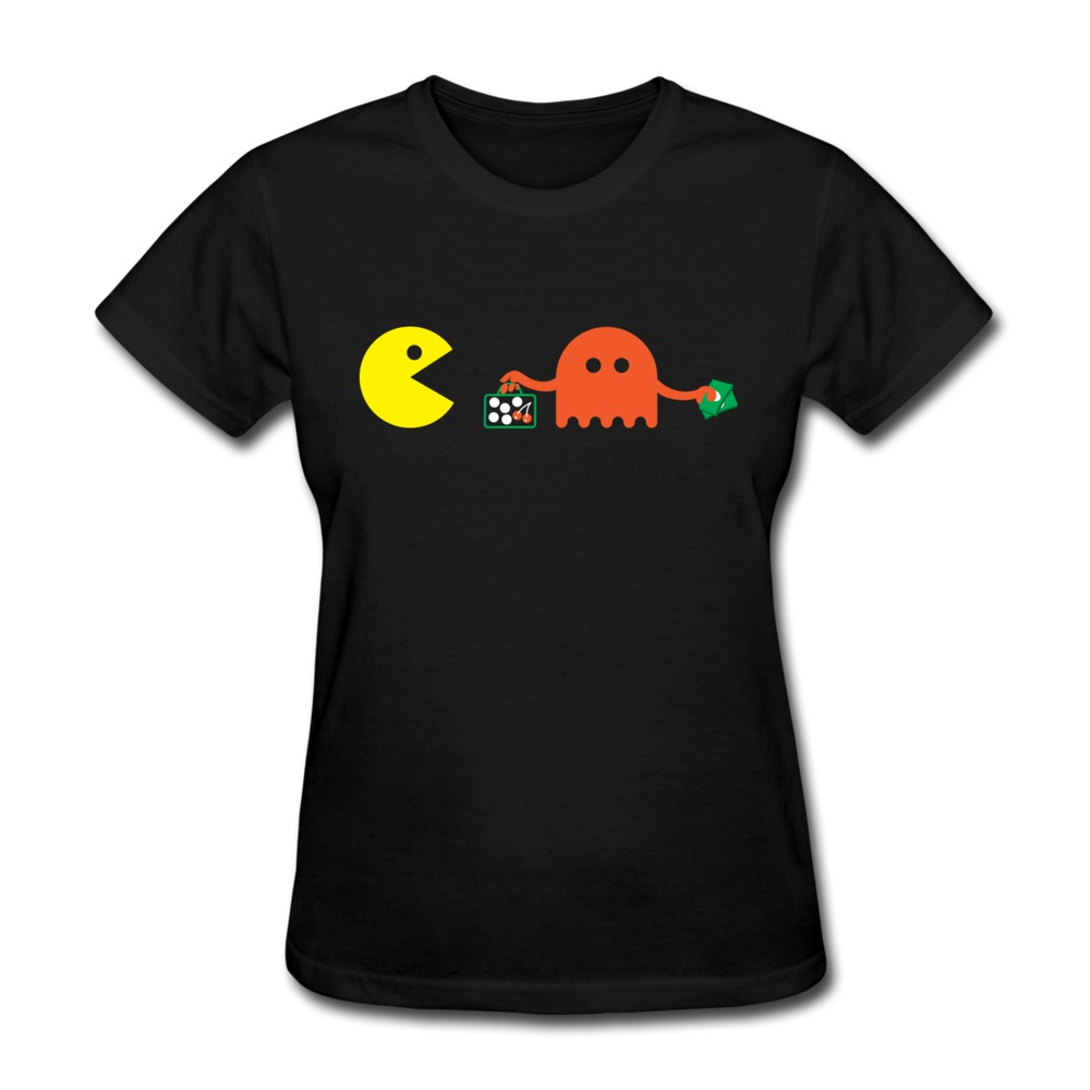 Slim Fit Short Sleeve 8 bit deal women's t shirt at Cheapest Price Woman tee shirts(China (Mainland))