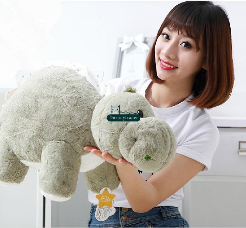 Dorimytrader 28'' / 70cm Giant Stuffed Soft Plush Funny Lovely Animal Dinosaur Toy 3 Colors Kids Gift Free Shipping DY60425(China (Mainland))