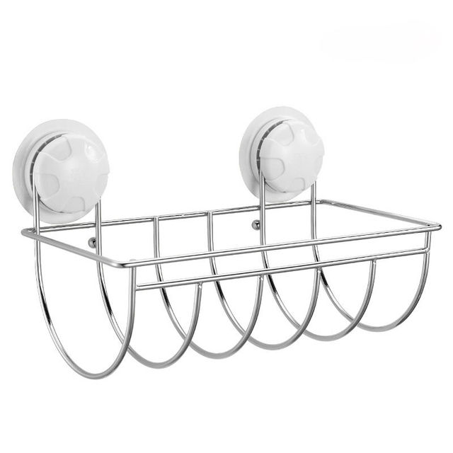 Suction wall toilet paper holder stainless steel in the bathroom, rack toilet paper box basket,free shipping!
