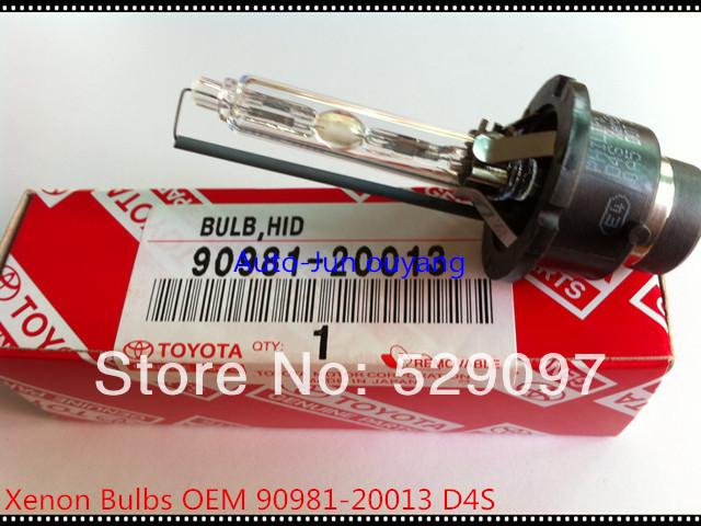 Free shipping Headlight Xenon bulb 90981-20013/90981-20024 D4S 6000K For Toyota Lexus/Wish/Reiz/Camry/Previa/Land Cruiser(China (Mainland))