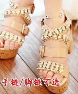 Small accessories panda head bracelet full rhinestone bracelet anklets female