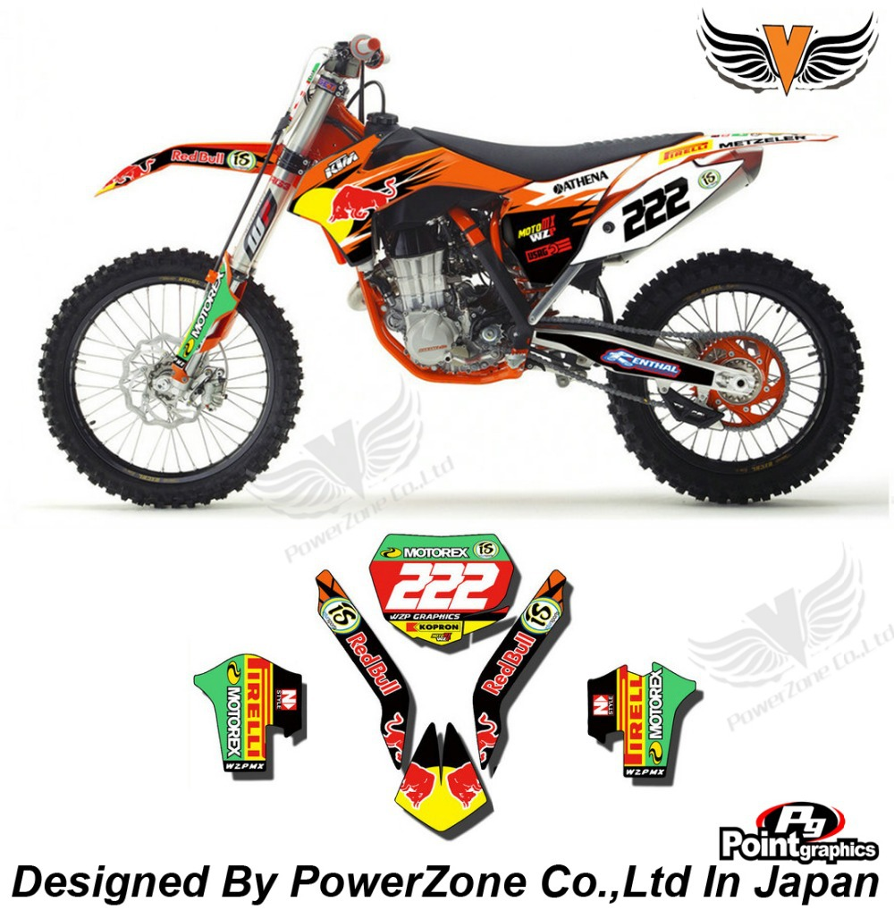 Top Quality Team Graphics & Backgrounds Decals 3M Stickers Red tw Kits For KTM SX SXF EXC 125 250 450 525 1998-2014 Free Shpping