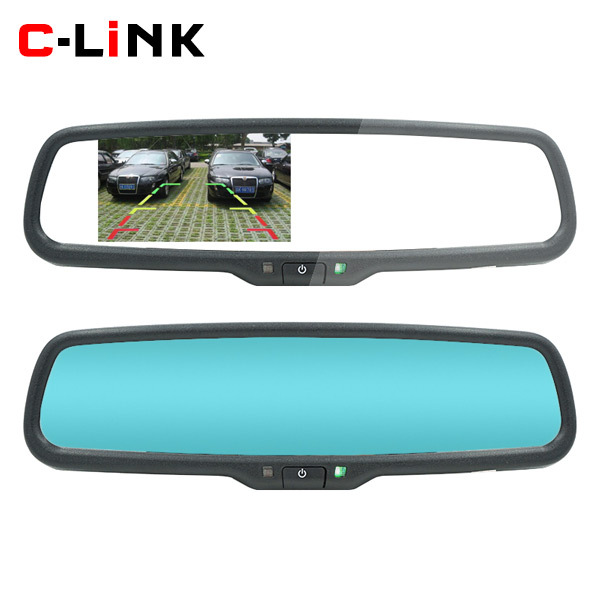 Auto Dimming HD 800*480 Special Bracket 4.3 TFT LCD Car Parking Rear View Rearview Mirror Monitor Video Player 2 Video Input(China (Mainland))