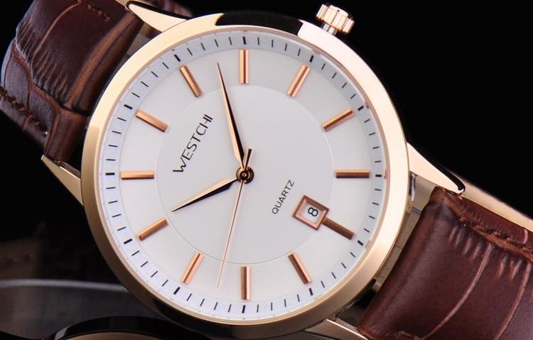 Top brand мужчины наручные часы водонепроницаемые спортивные часы мужчины ремень из натуральной кожи роскошные повседневная кварцевые наручные часы