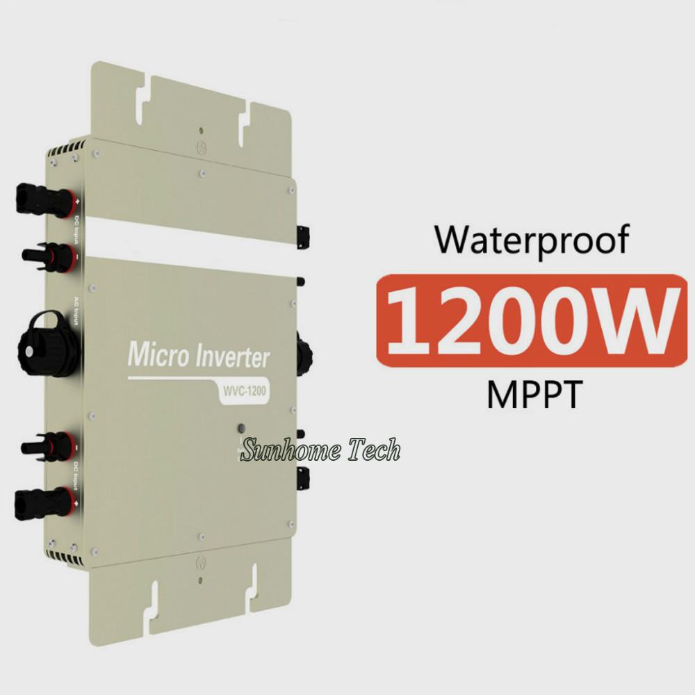 1200W Grid Tie Inverter 1200W On Grid Inverter,Input DC22-50V Output AC120V or 230V with Power line communication(China (Mainland))