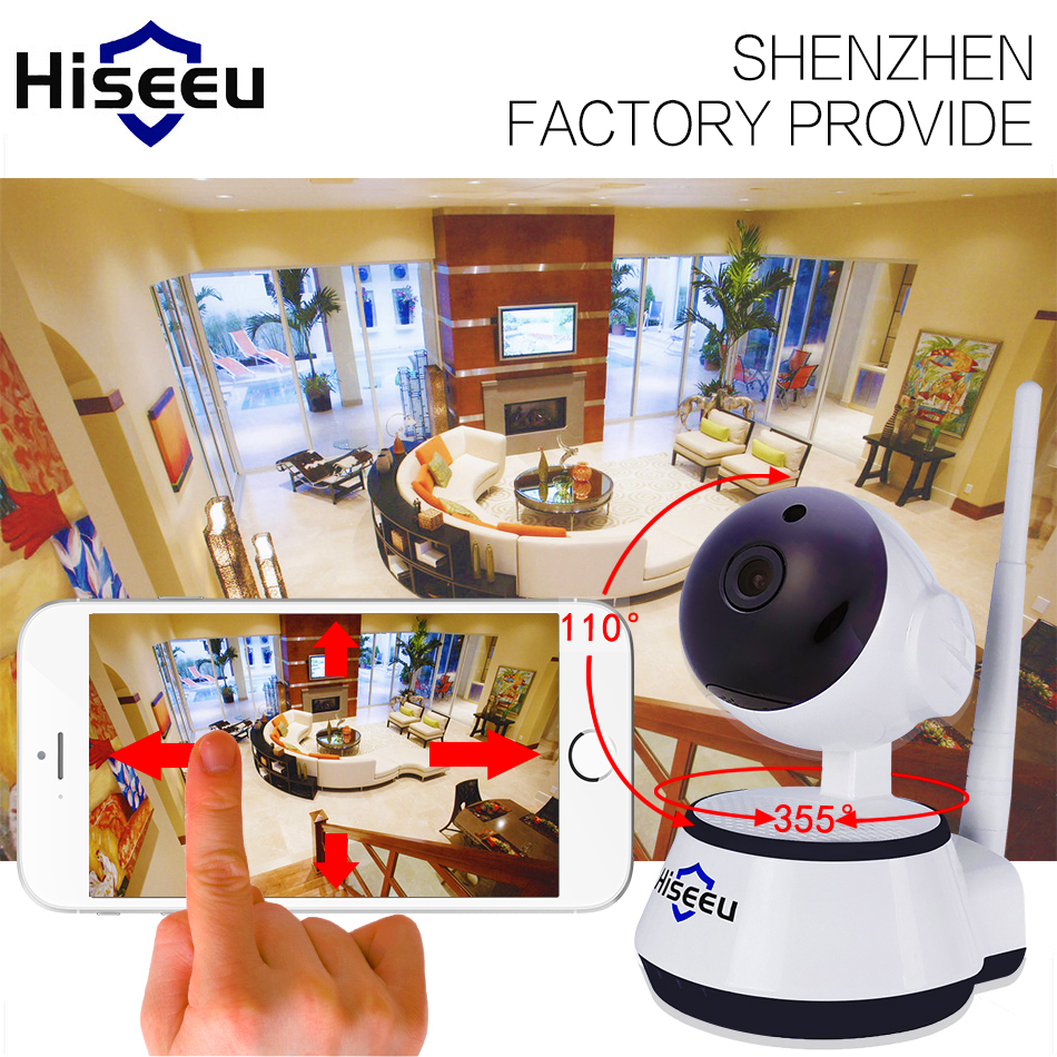 720P IP Camera Wi-Fi Wireless Home Security Camera Surveillance wifi ip Camera Day/Night Vision CCTV Automatic alarm hiseeu FH2A(China (Mainland))