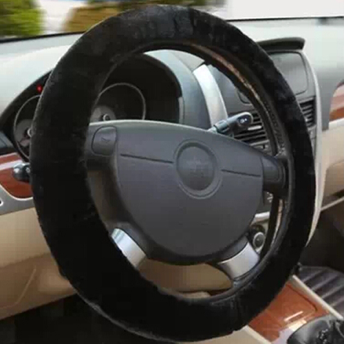 heated steering wheel cover of plush winter warm steering. Black Bedroom Furniture Sets. Home Design Ideas