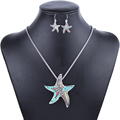 MS1504253 Fashion Jewelry Sets High Quality Gold Plated Beads Multicolor Starfish Design Woman s Necklace Set