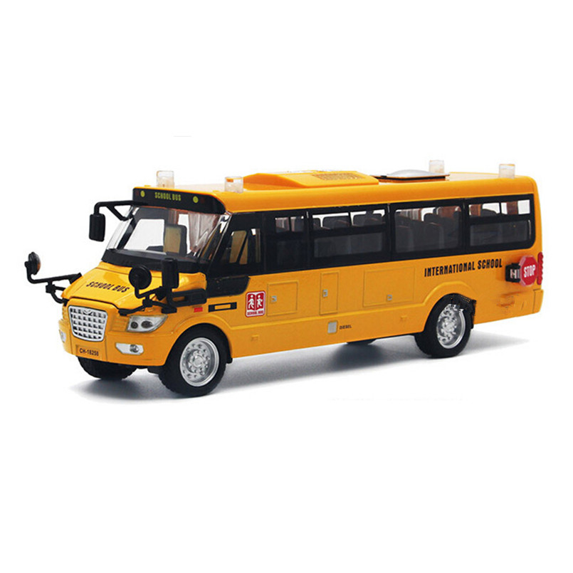 New Style 1:32 Scale Models School Bus Miniature Car Educational Toys for Children,Alloy Diecast and Toy Vehicles(China (Mainland))