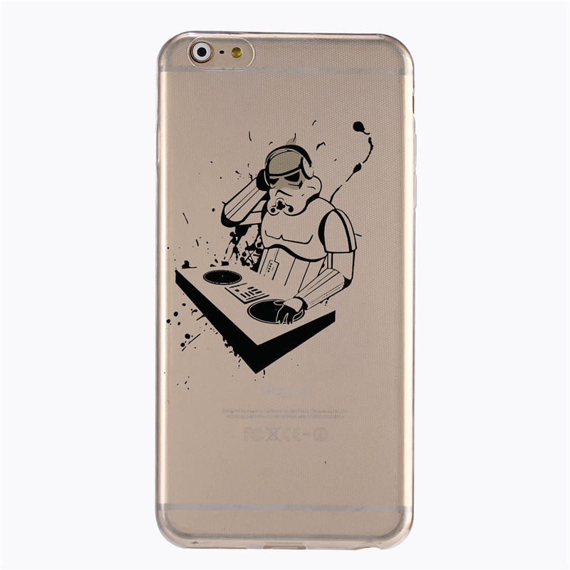 for Apple iPhone 4 4S 5 5S 5C 6 6 S 6 S 6 plus more Latest Star Wars fashion hollow transparent PC case