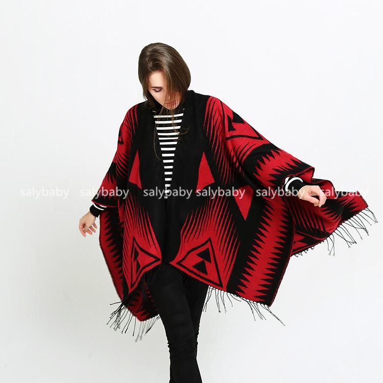 2016 Winter Scarf All-match Black Cashmere Shawl Triangular Ladies European And American Foreign Trade Folk Style Split Thickeni