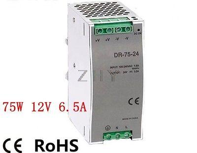 75W 12 V6.5A  Din Rail Single Output Switching power supply<br><br>Aliexpress