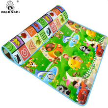 Double sided High quality 180*150*0.5cm Animal car + Fruit letter baby play mats crawling pad Kids Game Carpet Free shipping(China (Mainland))