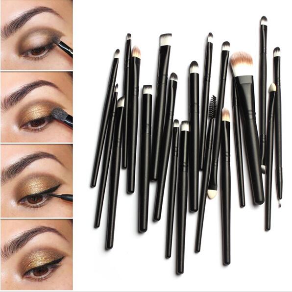 Brushes Set Powder Foundation Eyeshadow Eyeliner Lip Brush Pro Makeup for Mac Makeup Sosmetic Tool Freeshiping 20PcsMakeUp(China (Mainland))