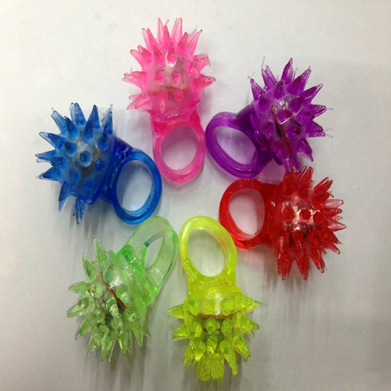 Funny Light-Up Jelly Meteor Rings LED Flashing Rave Blinking Finger Ring Party Favors Supplies Gift(China (Mainland))
