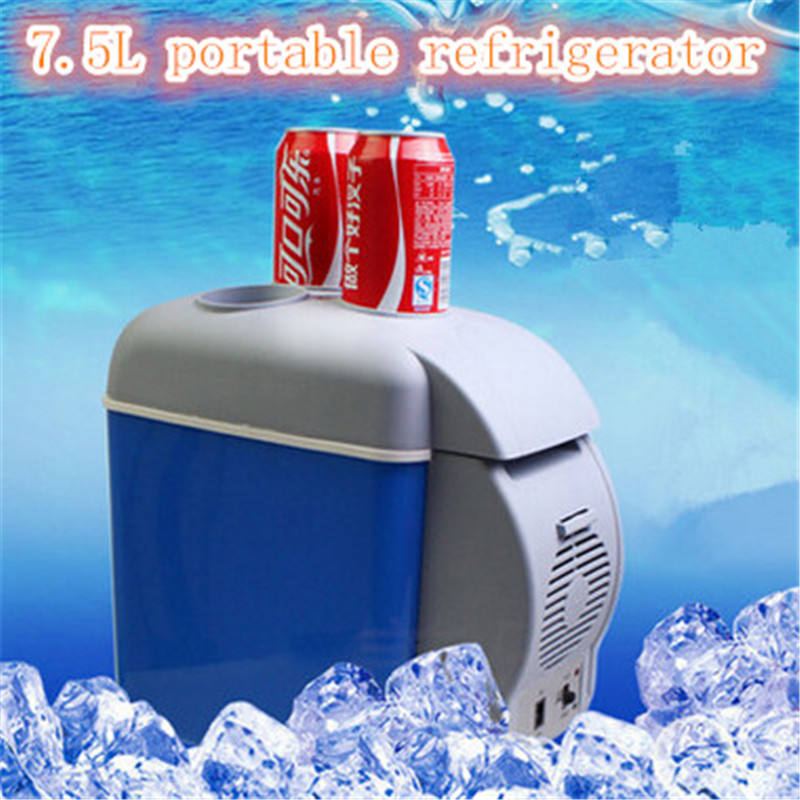 Mini Auto 12V Car home small refrigerator 7.5L portable cooler & heating box car styling fridge with compressor(China (Mainland))