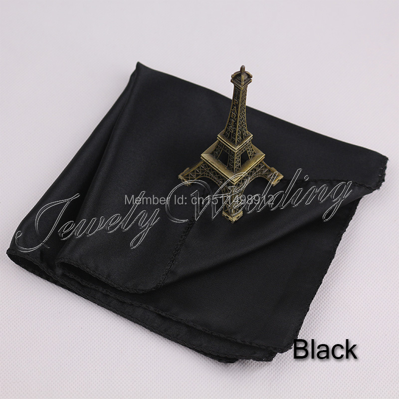 Black Satin Square Napkin Cloth Restaurant Dinner Decor For Wedding Party 50 pcs Free Shipping(China (Mainland))