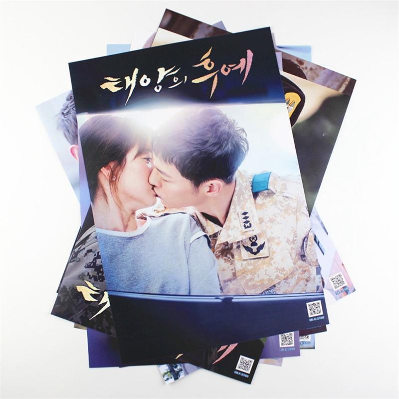 8*(42x29cm)Song Joong Ki Descendants of the sun poster Wall Stickers Korean celebrity gift wallpaper(China (Mainland))