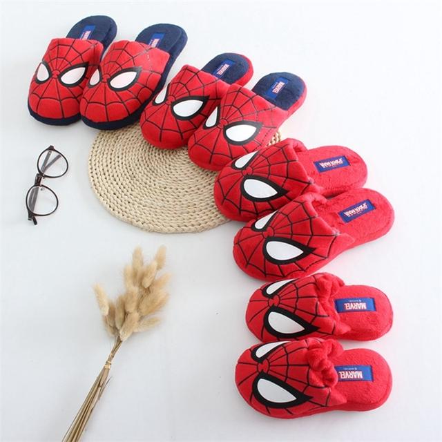 Качество зимние Мальчики дети человек-паук тапочки теплый прохладно тапочки детская домашней одежды Родитель-ребенок тапочки мальчика лучший любовь