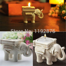 Retro Elephant Tea Light Candle Holder Ivory Ceramic Bridal Wedding Home Decor(China (Mainland))