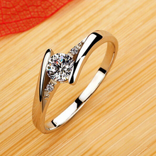 Engagement Rings For Women CZ Diamond Sterling Silver 925 Fine Jewelry Aneis Gift 60% Off Ulove J045-w Female Ring Bijouterie