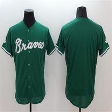 2016 Mens Flexbase 6 Bobby Cox 24 Deion Sanders 44 Hank Aaron blank jersey Color white Green red gray Throwback Jerseys(China (Mainland))