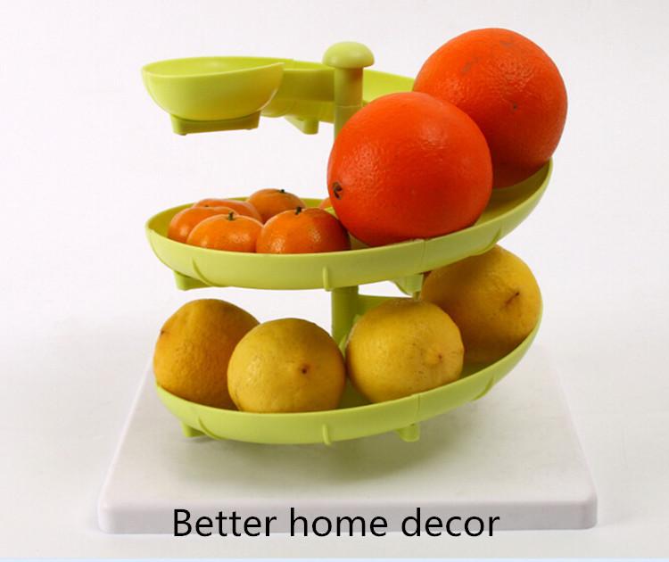 Goedkope Keuken Opbergkast : creatieve nieuwe 3 lagen plasitic opslag houders en rekken als keuken