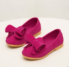 The spring and autumn period and the han edition 2016 bowknot candy color princess leisure children shoes(China (Mainland))