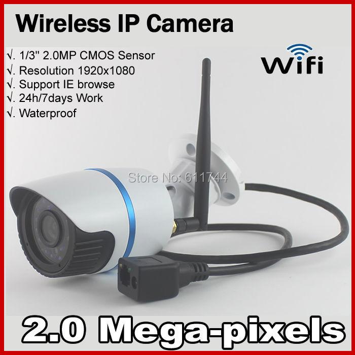 Hot Selling 1080P Network IR Bullet  Securiy CCTV WIFI IP camera Support ONVIF 2.0<br><br>Aliexpress