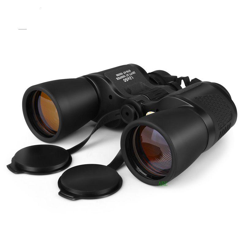 Фотография 12x50 BAK4 Prism BIJIA Binoculars Portable12X Professional HD Binocular Telescope Large Eyepiece High Quality Zoom Field Glasses