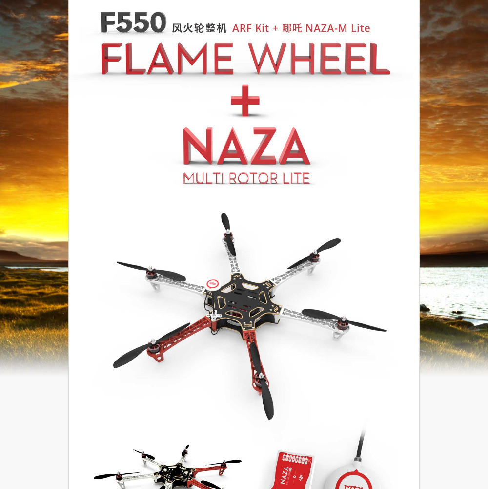 Dji f550 hexacopter quadcopter with esc motor propeller for Dji motors and esc