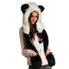 20% OFF 2015 Warm Winter Scarves Faux Animal Fur Hat Fluffy Scarf Shawl Glove Plush Cap Gloves Hats Xmas a2(China (Mainland))