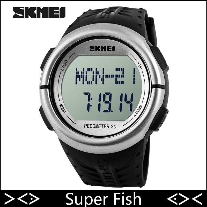 skmei new sports watches pedometer rate