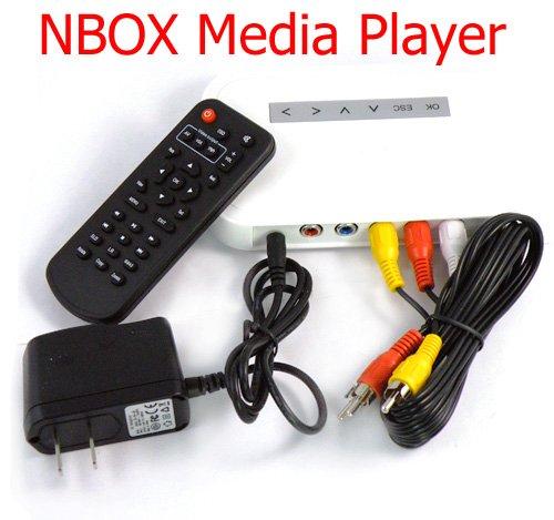 Free shipping MEDIA TV SD Card Reader medial Player MP3 MP4 NBOX,RM,AVI,MPEG -HDTV HD HDD(China (Mainland))
