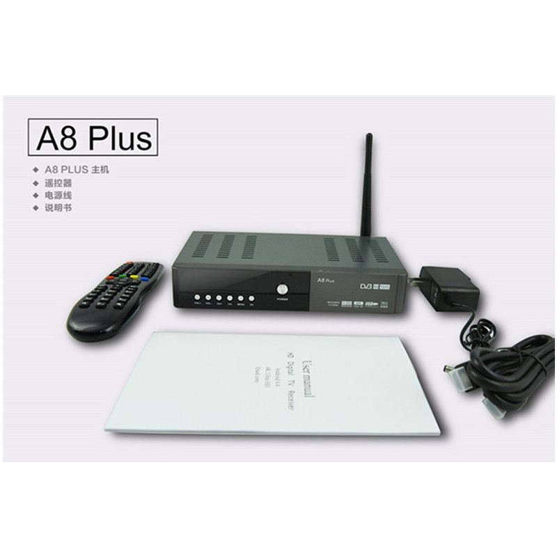Combo Android TV box A8 PLUS Hisilicon 3796 4K H.265 twin tuner DVB-S2 T2 C HD Support Android App google store wifi Power vu(China (Mainland))