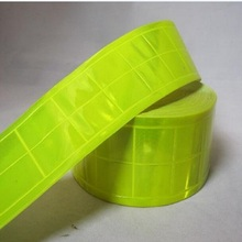 5cm *50m Yellow Lime Gloss Reflective Tape PVC sew on material(China (Mainland))
