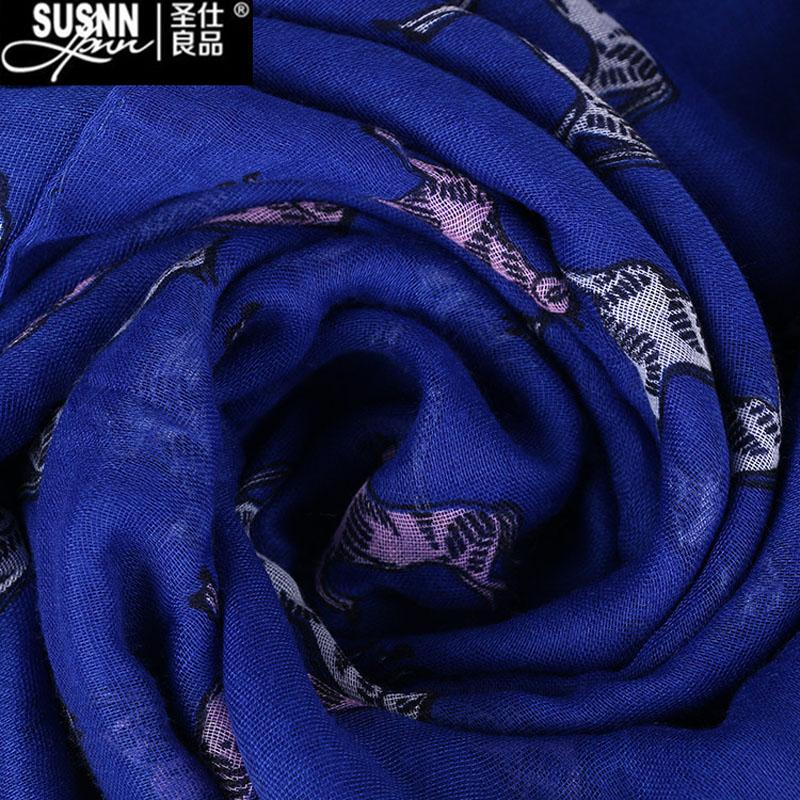 2017 Winter New Fashion Women Scarf Brand Luxury Designer Winter Knitted Chiffon Shawl Animal Patterns Bali Yarn Free Shipping
