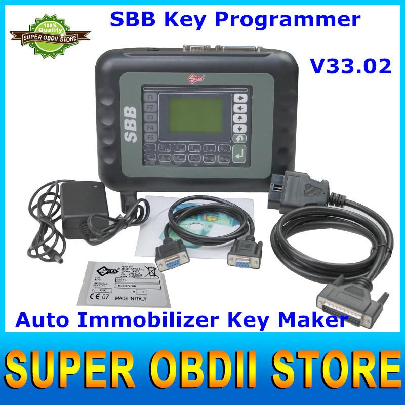 2015 Universal SBB Key Programmer By Immobilizer For Multi-Brands SBB Silca V33.02 / V33 Auto Car Key Maker No Token DHL Free(China (Mainland))