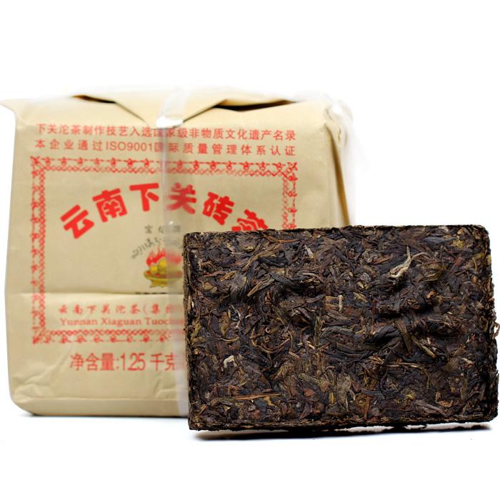 Free Shipping Yunnan Seven Pu Er Cakes 2014 yr New Tea XiaGuan Bao Yan Brick 250g