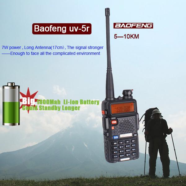 HOT Portable Radio Two Way  Radio Walkie Talkie Baofeng UV-5R for vhf uhf dual band ham CB radio station Original Baofeng uv 5r