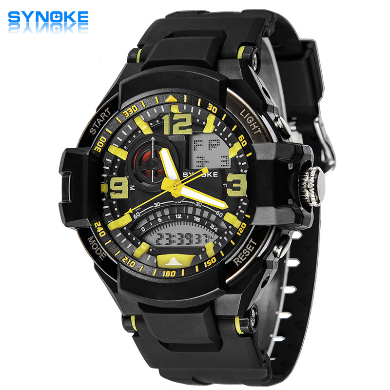 SYNOKE Digital Sports Watches Fashion Students Watch 30M Waterproof Dual Timezone Watch  Led Electronic Watch<br><br>Aliexpress