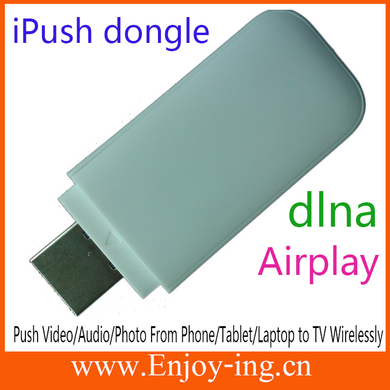 iPush D2 HDMI Dlna+Airplay for iPhone to TV no need any app Push Video music photo Wirelessly tv stick dlna MK808 MK908 MK802(China (Mainland))